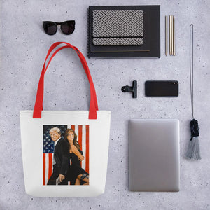 Mr. and Mrs. Trump Tote bag - Flag and Cross