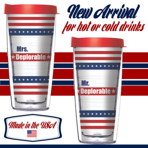 Mrs. Deplorable or Mr. Deplorable 16oz Tumblers