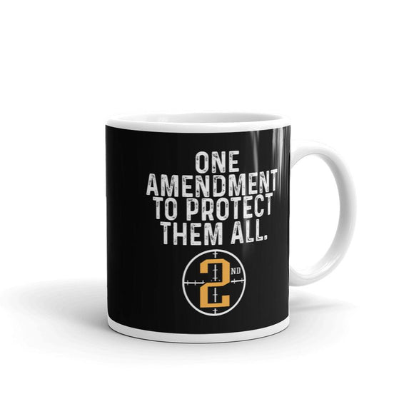One Amendment to Protect Them All Ceramic Mug - Flag and Cross