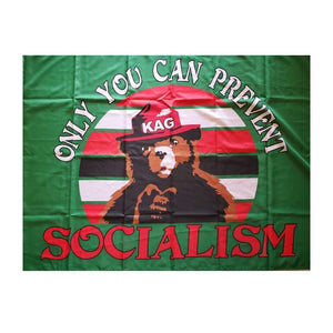 Only YOU Can Prevent Socialism KAG 3'x5' Flag - Flag and Cross