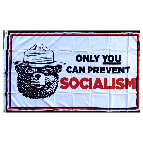 Only You Can Prevent Socialism Maga Bear 100D Rough Tex® Flag