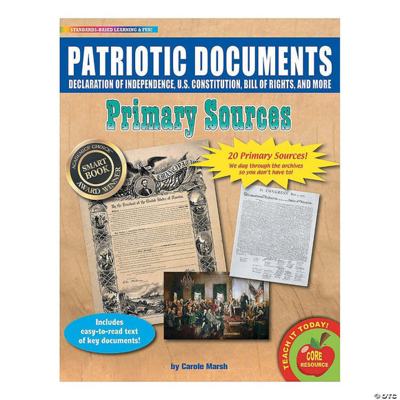 Primary Source Patriotic Historical Documents (cardstock)