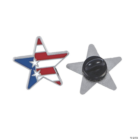 Patriotic Star Lapel Pin
