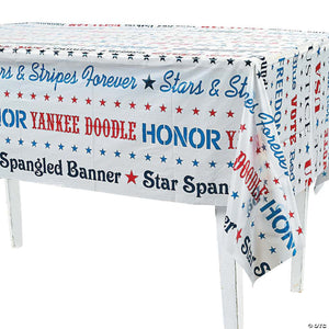 "Patriotic Themed Table Cover (54"" x 108"")"