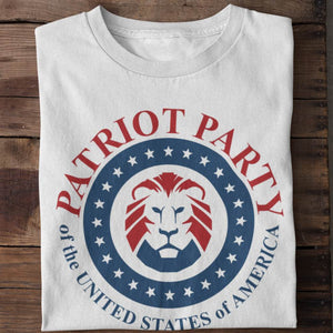 Patriot Party Lion Unisex Cotton T-shirt