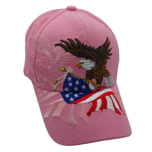 Pink American Flying Eagle Custom Embroidered Shadow Hat