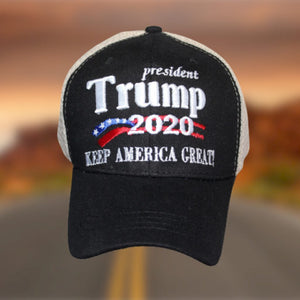 President Trump 2020 Keep America Great Custom Embroidered Trucker Hat