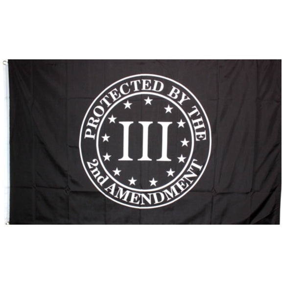III Percenter Protected by the 2nd Amendment 3'x5' 100D Rough Tex® Flag