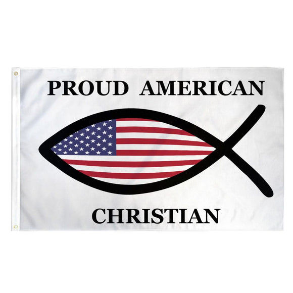 Proud American Christian 3'x5' 100D Rough Tex® Flag
