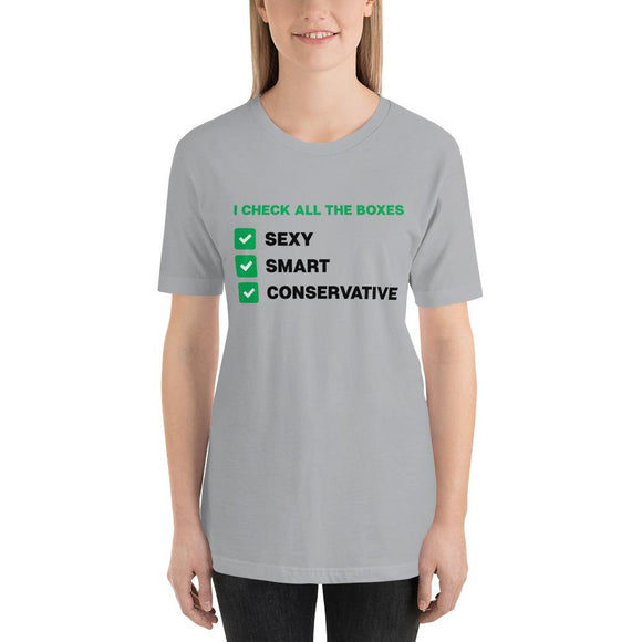 Smart Sexy Conservative Short-Sleeve Unisex T-Shirt - Flag and Cross