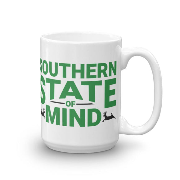 Southern State Of Mind Mug - Flag and Cross