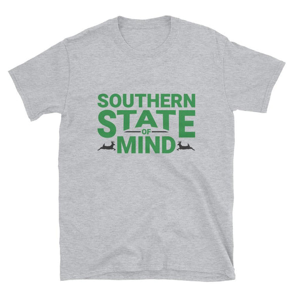 Southern State Of Mind Short-Sleeve Unisex T-Shirt - Flag and Cross