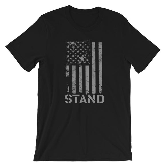 Stand For The Flag Short-Sleeve Unisex T-Shirt - Flag and Cross
