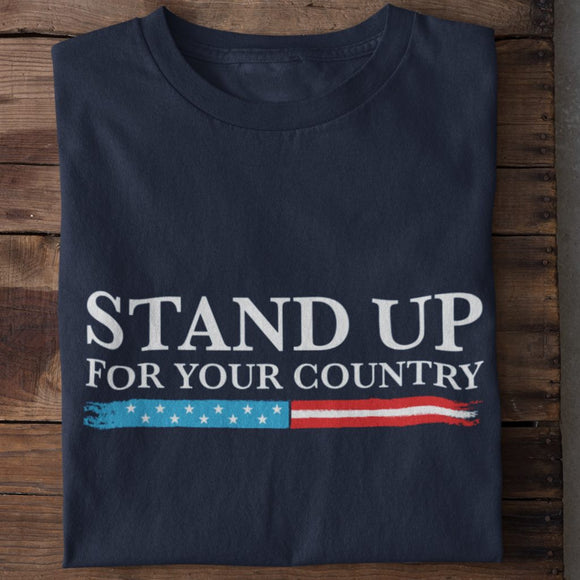 Stand Up For Your Country Unisex Heavy Cotton T-shirt