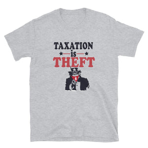 Taxation Is Theft T-Shirt - Flag and Cross
