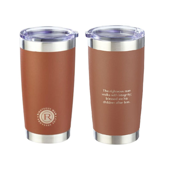 The Righteous Man 20oz Travel Mug (Double Walled)
