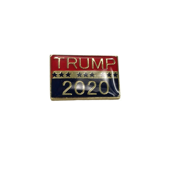 Trump 2020 Gold Plated Lapel Pin (Enamel Filled) - Flag and Cross