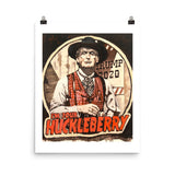 Trump 2020 I'm Your Huckleberry Durable Matte Poster - Flag and Cross