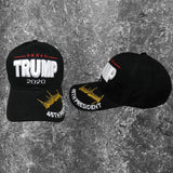 Trump 2020 Signature 3-D Custom Embroidered Hat - Flag and Cross