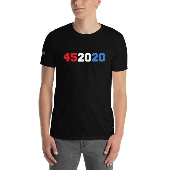 Trump 452020 Short-Sleeve Unisex T-Shirt - Flag and Cross