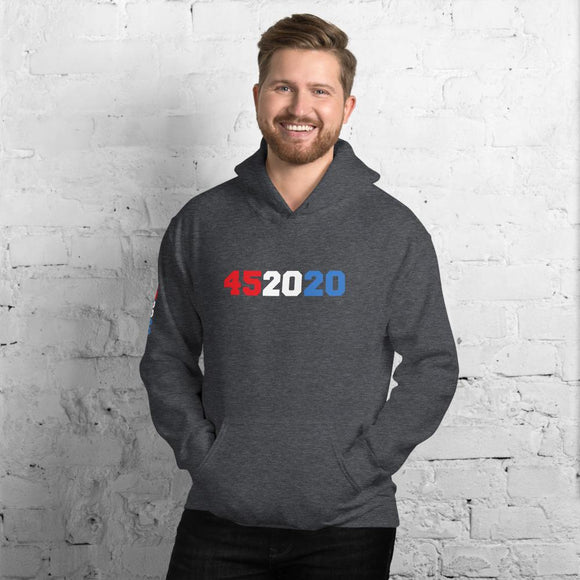 Trump 452020 Unisex Hoodie - Flag and Cross