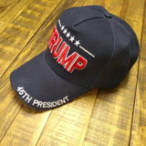 TRUMP 45th President Custom Embroidered Hat - Flag and Cross