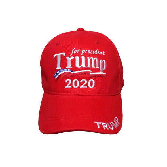 Trump for President 2020 Custom Embroidered 100% Cotton Hat - Flag and Cross
