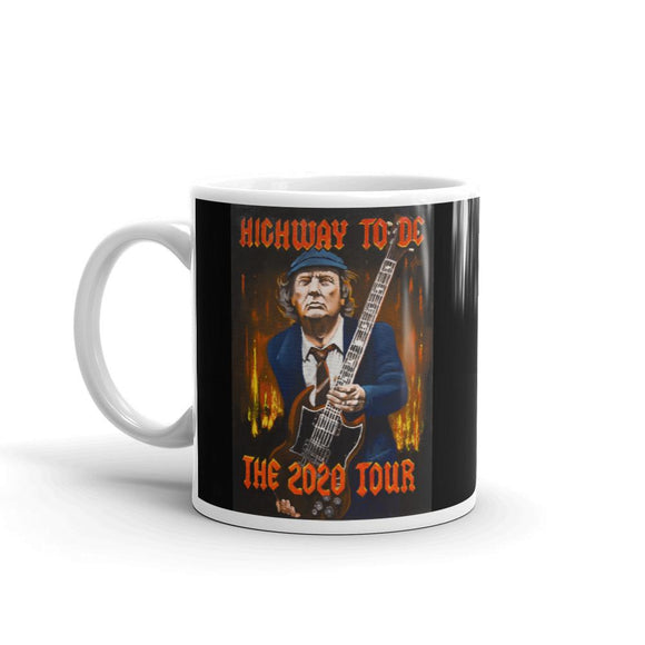 Trump Highway to D.C. The 2020 Tour Ceramic Mug - Flag and Cross
