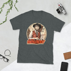 "Trump ""I'm Your Huckleberry"" Unisex T-Shirt - Flag and Cross"