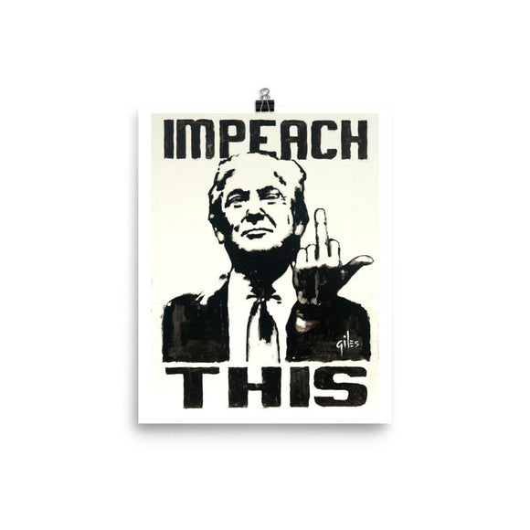 Trump: Impeach This Poster - Flag and Cross