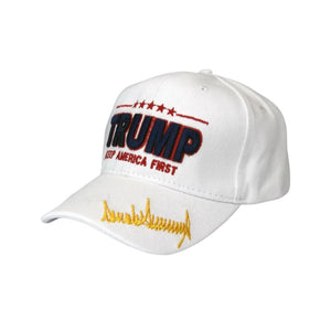 Trump 'Keep America First' Custom Signature Series Embroidered Hat - Flag and Cross