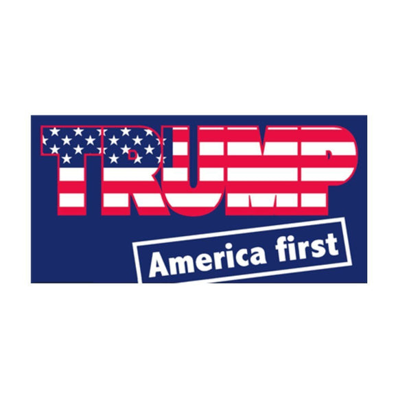 Trump Keep America First Weatherproof Sticker - Flag and Cross