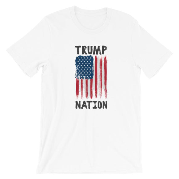 Trump Nation Short-Sleeve Unisex T-Shirt - Flag and Cross