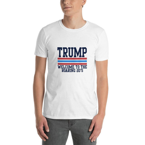 Trump Welcome to the Roaring Twenties Unisex T-Shirt - Flag and Cross
