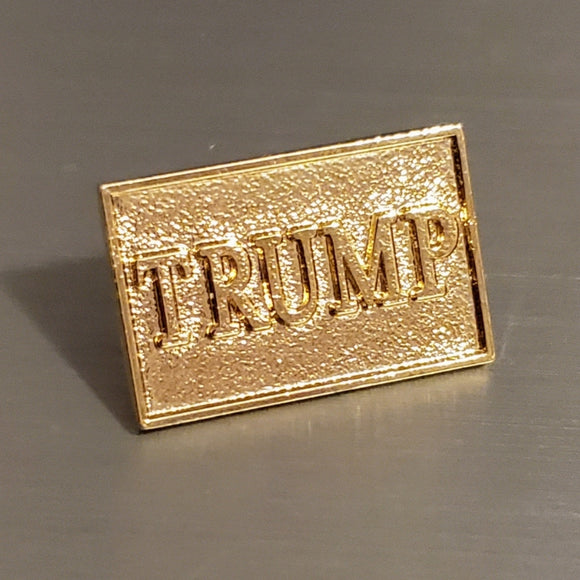 Trump Gold Bar Lapel Pin
