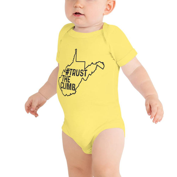 Trust The Climb WV Onesie - Flag and Cross