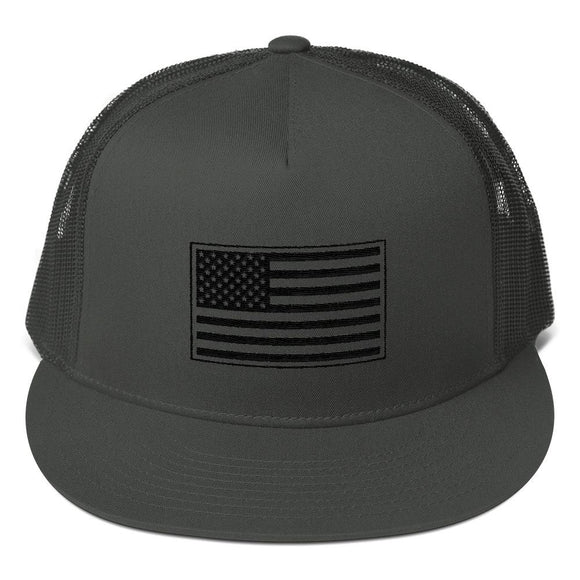US Flag Mesh Back Snapback - Flag and Cross