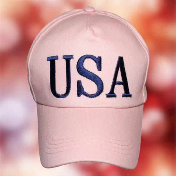 USA Trump !00% Cotton Twill (Cotton Candy Pink) Hat