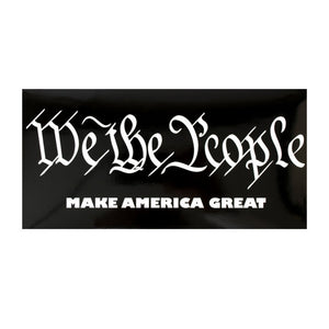 """We the People"" Make America Great Sticker - Flag and Cross"