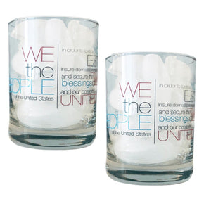 "US Constitution ""Preamble"" Rocks Glass"