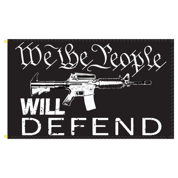 We the People Will Defend 3'x5' 100D Rough Tex® Flag