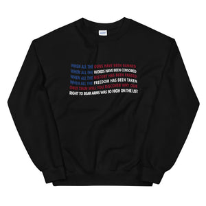 When All The Guns Have Been Banned Sweatshirt - Flag and Cross