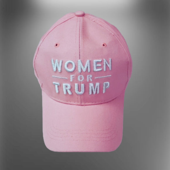 Women for Trump 3D Custom Embroidered Pink Hat