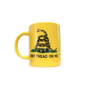 "Yellow Gadsden ""Don't Tread On Me"" Traditional 12oz Mug with 12""x18"" Flag - Flag and Cross"