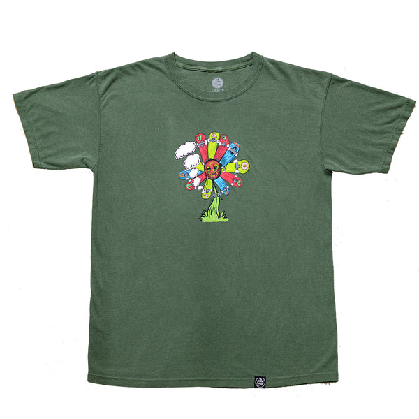 Skate Flower T-Shirt Hemp