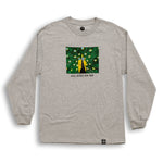 Peacock Long Sleeve Shirt Ash Grey
