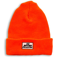 Hunter Orange Ribbed Box Beanie