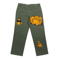 All Over Print Chino Pants Army Green