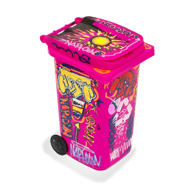 Mini Hand Painted Trashcan Pink