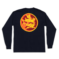 3D Circle Logo Long Sleeve Shirt Black